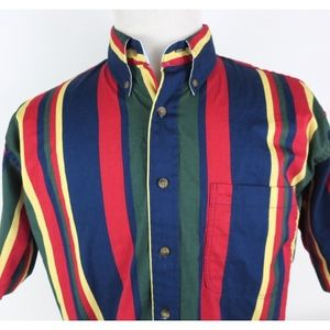Vintage GANT Medium S/S Shirt Vertical Stripes